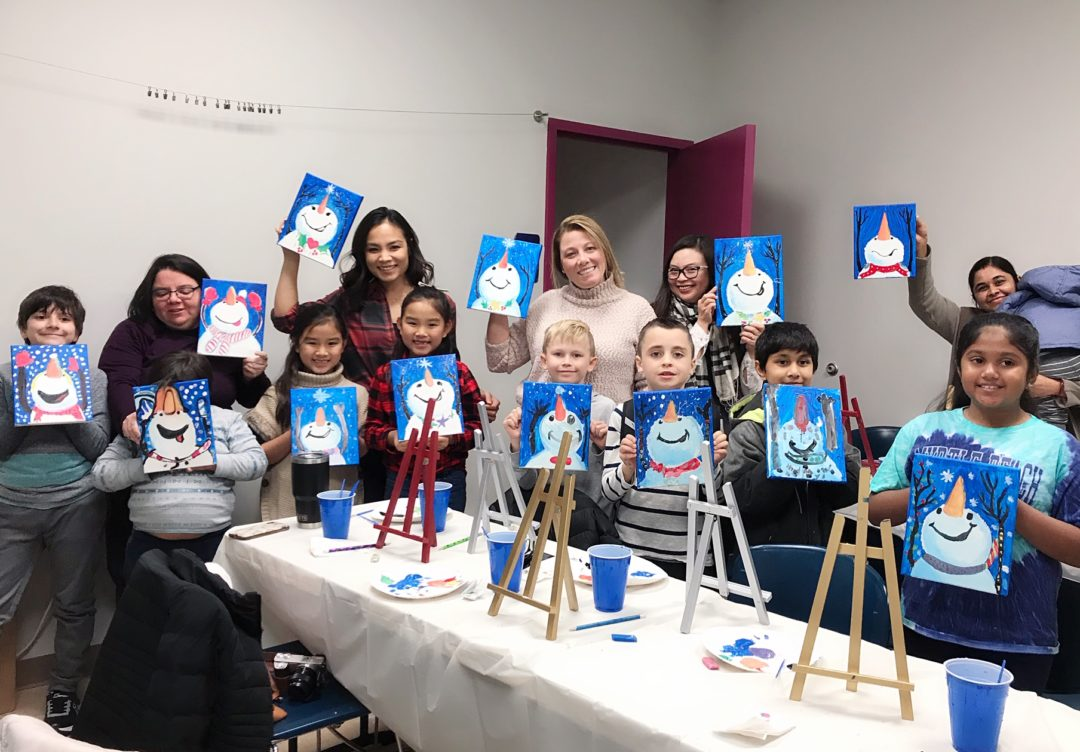 Painting event, birthday party